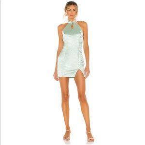 Superdown Delaney Mock Neck Mini Dress in Mint